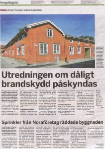 Brand hotade Tullbackagården